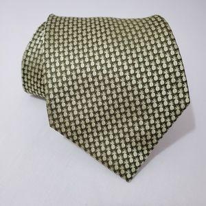 Tommy Bahama Woven Silk Tie Pineapple Green